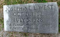 Josephine L West's Gravestone
