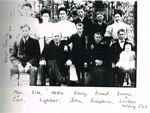 Lightner West Family, Abt. 1906