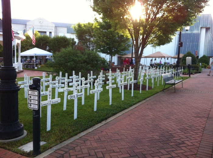 Memorial Day Remembrance in Cannon Park, Canton, Georgia (May 2013)