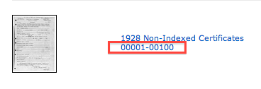 This number indicates records numbered 1 through 100