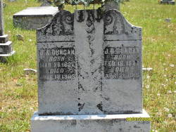 John Berry Duncan and Jane Agnes Eddington Tombstone, New Bethel Baptist Church Cemetery, Acworth, Georgia