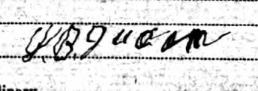 John Berry Duncan's Signature, 1910