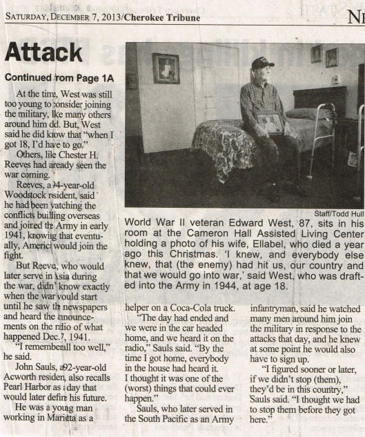 Edward West Cherokee Tribune Dec 7 2013 p2