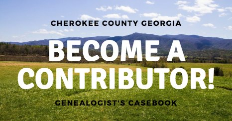 Cherokee County Georgia Genealogy book
