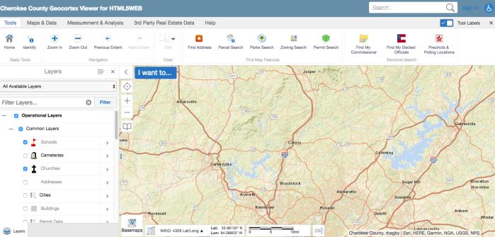 Cherokee County Georgia GIS for Genealogy